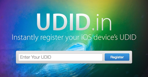 UDID.in: Instantly register your iOS device's UDID