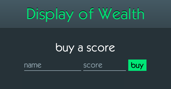 display-of-wealth